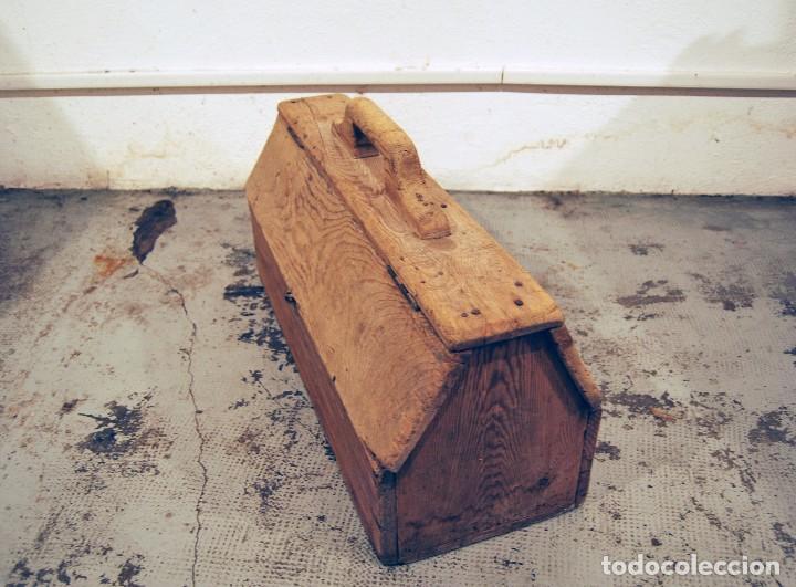 Antigüedades: ANTIGUA CAJA DE HERRAMIENTAS DE PINTOR AÑOS 50 - Foto 6 - 99052183