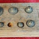 Antigüedades: CONVOY DE PONDERALES. BRONCE Y METAL. VARIOS PESOS. SIGLO XIX-XX. . Lote 99153167