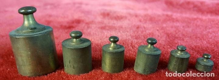 Antigüedades: CONVOY DE PONDERALES. BRONCE Y METAL. VARIOS PESOS. SIGLO XIX-XX. - Foto 2 - 99153167