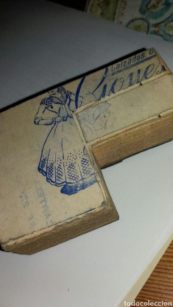 Antigüedades: Calzado de lujo goyesca. Troquel de imprenta. - Foto 2 - 99184488