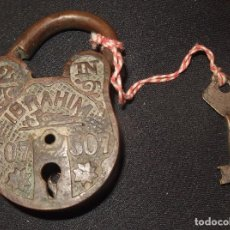 Antigüedades: ANTIGUO CANDADO DE BRONCE,IBRAHIM 507. Lote 99213223