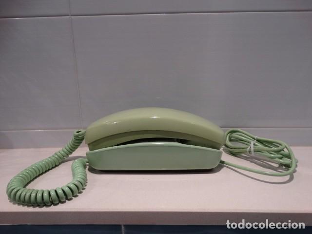 TELÉFONO GÓNDOLA VERDE DE RUEDA (Antigüedades - Técnicas - Teléfonos Antiguos)