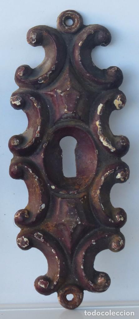 ANTIGUA GRAN BOCALLAVE ARTISTICA HIERRO (Antigüedades - Técnicas - Cerrajería y Forja - Varios Cerrajería y Forja Antigua)