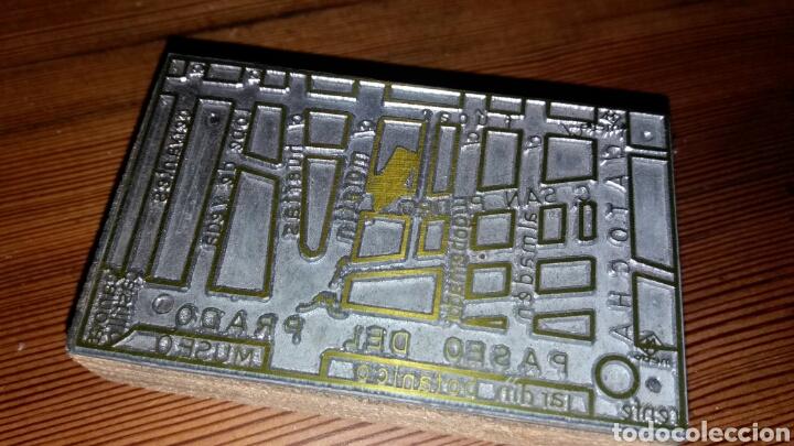 Antigüedades: Troquel o sello de imprenta de indicación de local en el barrio de las letras de Madrid - Foto 2 - 99395079