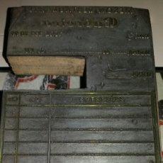 Antigüedades: TROQUEL O SELLO DE IMPRENTA DE NOTAS DE MESÓN C/ RUIZ 4 DE MADRID. AÑOS 70. Lote 99395571