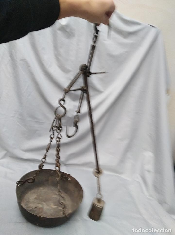 Antigüedades: BASCULA ROMANA DE HIERRO, MEDIANA, ANTIGUA - Foto 2 - 99432675
