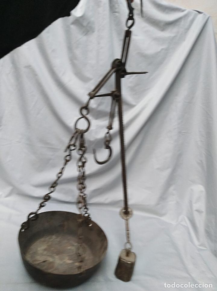Antigüedades: BASCULA ROMANA DE HIERRO, MEDIANA, ANTIGUA - Foto 3 - 99432675