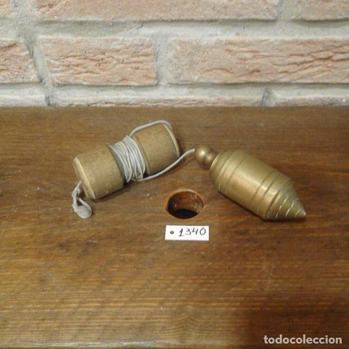 ANTIGUA PLOMADA DE ALBAÑIL (Antigüedades - Técnicas - Herramientas Profesionales - Albañileria)