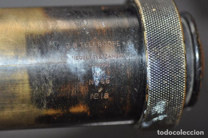 Antigüedades: TELESCOPIO INGLÉS - NEGRETTI & ZAMBRA G.S. TELESCOPE X8 1917 N. 68 - Foto 5 - 99655043