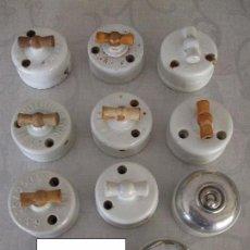 Antigüedades: ANTIGUOS ELEMENTOS DE ELECTRICIDAD EN CERAMICA. Lote 140219241
