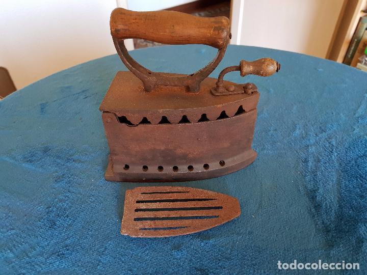 Antigüedades: Plancha de hierro siglo XIX - Foto 3 - 99839267