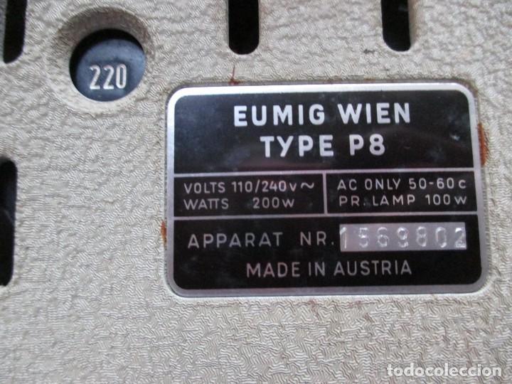 Antigüedades: PROYECTOR MODELO ' EUMIG P8 ' AUSTRIA HACIA 1950/60 - CARECE LAMPARA, PROBADO, INC CAJA + INFO - Foto 4 - 99985931