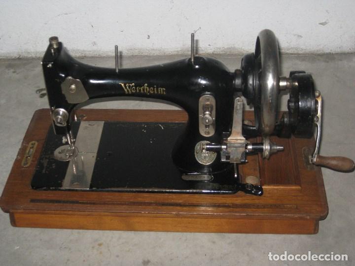 Antigüedades: Antigua maquina de coser Wertheim - Foto 2 - 100035151