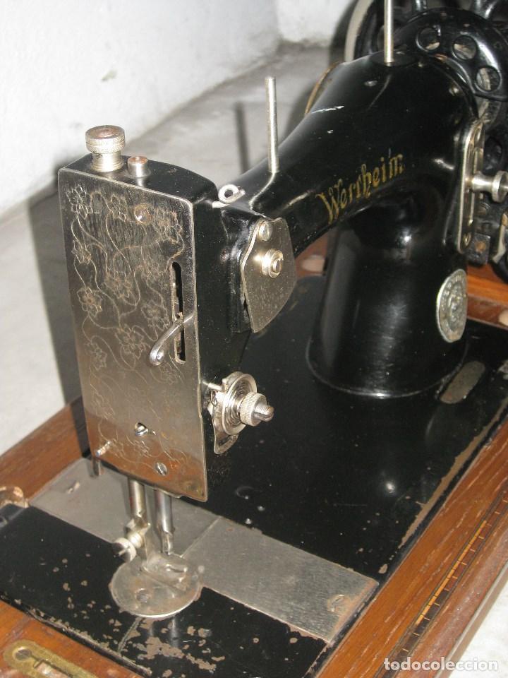 Antigüedades: Antigua maquina de coser Wertheim - Foto 4 - 100035151