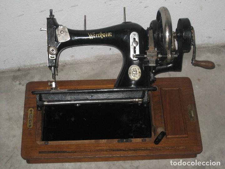 Antigüedades: Antigua maquina de coser Wertheim - Foto 11 - 100035151