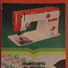 Antigüedades: ANTIGUO MUESTRARIO DE DIBUJOS.MAQUINA COSER SUPERAUTOMATICA ALFA.1975. Lote 100171687