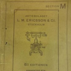 Teléfonos: COMPAÑIA TELEFONICA L.M. ERICSSON. STOCKHOLM. SUECIA. CATALOGO TELÉFONOS. AÑO 1910. 40 PÁG. Lote 100356075