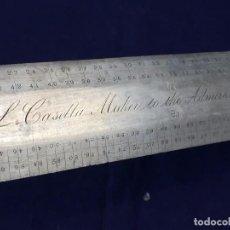 Antigüedades: REGLA METAL ARMADA INGLESA LONDRES NAVEGACION CASELLA NAUTICA INSTRUMENTO MARINA XIX CENTESIMAL 48C. Lote 100414123