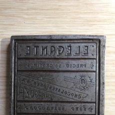 Antigüedades: CHAPA DE IMPRETA. Lote 100430148
