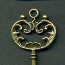 Antigüedades: LLAVE VINTAGE DE BRONCE - MIDE 6,9 X 3,10 CENTIMETROS Y PESA 4,56 GRAMOS - Nº19. Lote 100438235