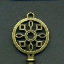 Antigüedades: LLAVE VINTAGE DE BRONCE - MIDE 7 X 2,5 CENTIMETROS Y PESA 5 GRAMOS - Nº31. Lote 100439355