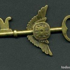 Antigüedades: LLAVE VINTAGE DE BRONCE - MIDE 7,8 X 4,6 CENTIMETROS Y PESA 10,16 GRAMOS - Nº3. Lote 100434807