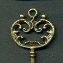 Antigüedades: LLAVE VINTAGE DE BRONCE - MIDE 6,9 X 3,10 CENTIMETROS Y PESA 4,54 GRAMOS - Nº21. Lote 100438335