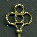 Antigüedades: LLAVE VINTAGE DE BRONCE - MIDE 7,5 X 2,8 CENTIMETROS Y PESA 6,07 GRAMOS - Nº44. Lote 100449207