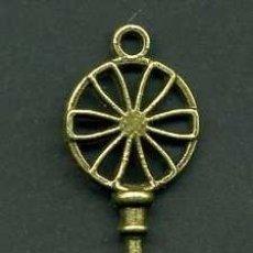 Antigüedades: LLAVE VINTAGE DE BRONCE - MIDE 6,3 X 2,1 CENTIMETROS Y PESA 4,54 GRAMOS - Nº49. Lote 100449831