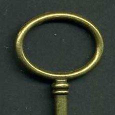 Antigüedades: LLAVE VINTAGE DE BRONCE - MIDE 6,3 X 3 CENTIMETROS Y PESA 5,97 GRAMOS - Nº52. Lote 100450143