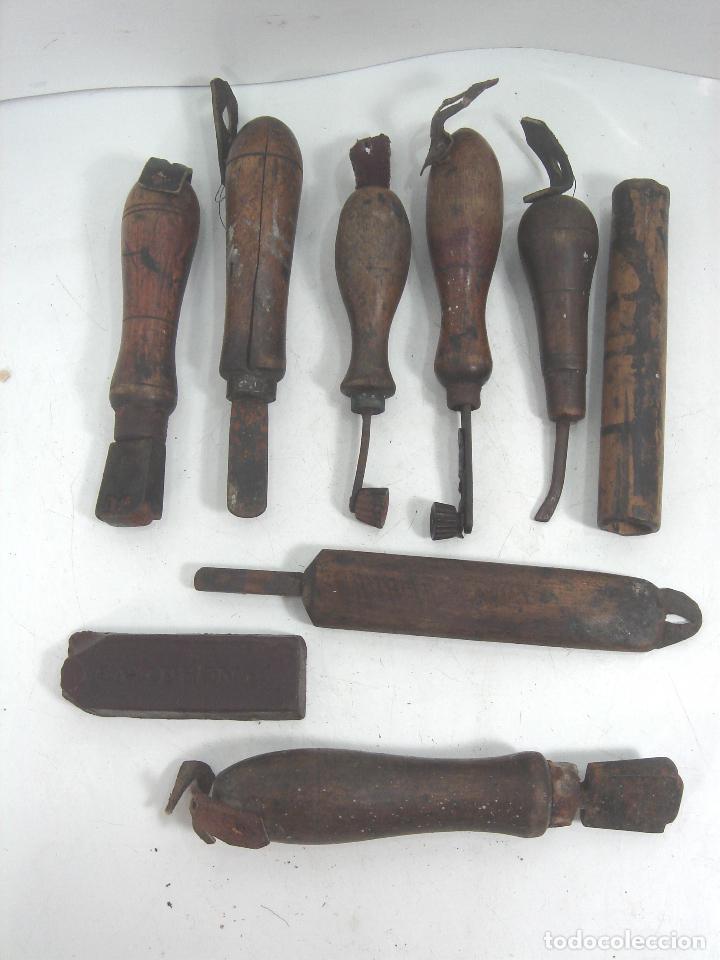 Lote 9 antiguas herramientas para curtir piel comprar Herramientas artesanales