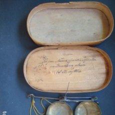Antigüedades: ANTIGUAS BALANZAS PARA PESAR MONEDAS DE NARCIS CRISTIA ANY 1834. Lote 100570431