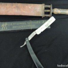 Antigüedades: LOTE NAVAJA Y AFILADOR SOLINGEN. Lote 100617051