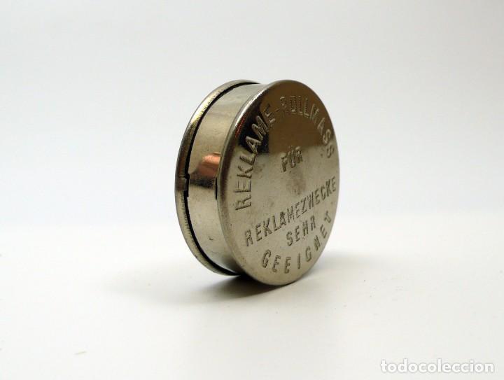 Antigüedades: Cinta métrica de metal cromado - Reclame Rollmass Alemania- años 30 - Foto 2 - 100754571