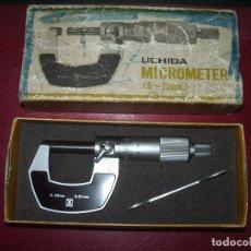 Antigüedades: MEDIDOR DE ESPESORES: MICROMETRO, UCHIDA. Lote 100998951