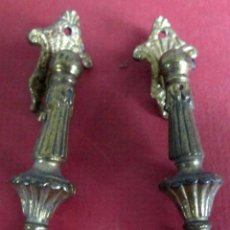 Antigüedades: PAREJA TIRADORES BRONCE - LATÓN MEDIDAS 7 X 2 CM.. Lote 101095579