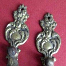 Antigüedades: PAREJA TIRADORES BRONCE - LATÓN MEDIDAS 9,5 X 2,5 CM. . Lote 101102955