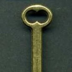 Antigüedades: LLAVE ANTIGUA DE BRONCE - MIDE 3,5 X 1,3 CENTIMETROS Y PESA 1,56 GRAMOS - Nº183. Lote 101125543