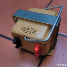 Antigüedades: AUTOTRANSFORMADOR REVERSIBLE JOYJE - TENSIONES 125-220V - POTENCIA 200V.A.. Lote 101278223