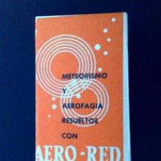 Antigüedades: HOJA DE AFEITAR ANTIGUA-AERO-RED-COMPRIMIDOS-CORTESIA ROCADOR-VINTAGE. Lote 101357031