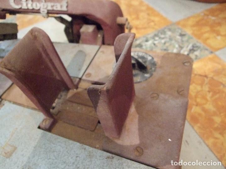 Antigüedades: IMPRENTA MANUAL MARCA CITOGRAF - FABRICACION SUECIA - COMPLETA Y EN BUEN ESTADO - Foto 4 - 101406615