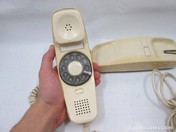 Teléfonos: A-437 / ANTIGUO TELEFONO VINTAGE - GÓNDOLA BLANCO - FUNCIONANDO - Foto 2 - 101468567