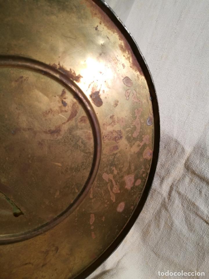 Antigüedades: GRAN MESURA-MEDIDA DE GRANO, SELLA BALDE AÑO 1900.EN COBRE Y LATON CELEMIN-CUARTERA-FANEGA - Foto 12 - 101469203
