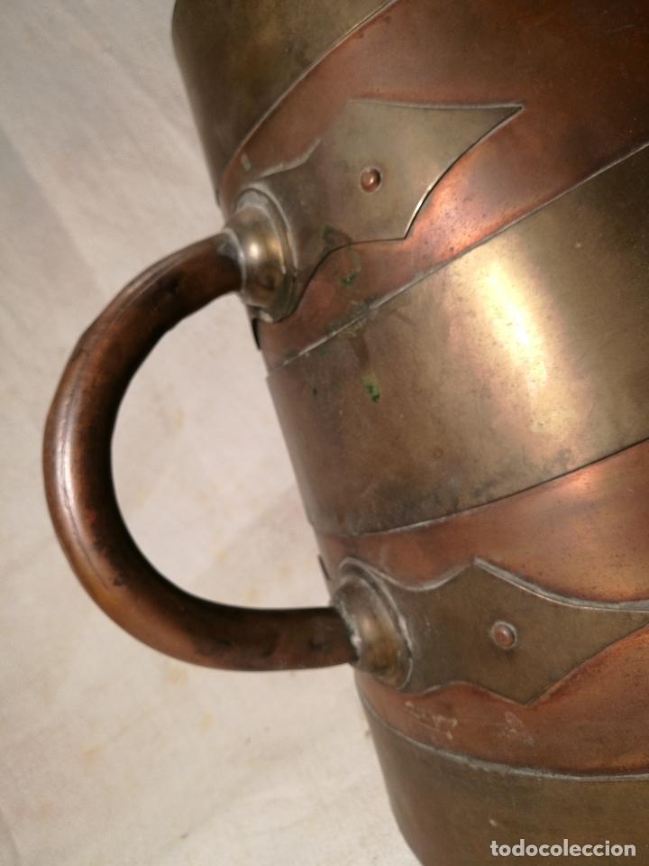 Antigüedades: GRAN MESURA-MEDIDA DE GRANO, SELLA BALDE AÑO 1900.EN COBRE Y LATON CELEMIN-CUARTERA-FANEGA - Foto 19 - 101469203