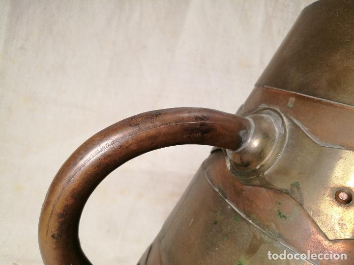 Antigüedades: GRAN MESURA-MEDIDA DE GRANO, SELLA BALDE AÑO 1900.EN COBRE Y LATON CELEMIN-CUARTERA-FANEGA - Foto 20 - 101469203