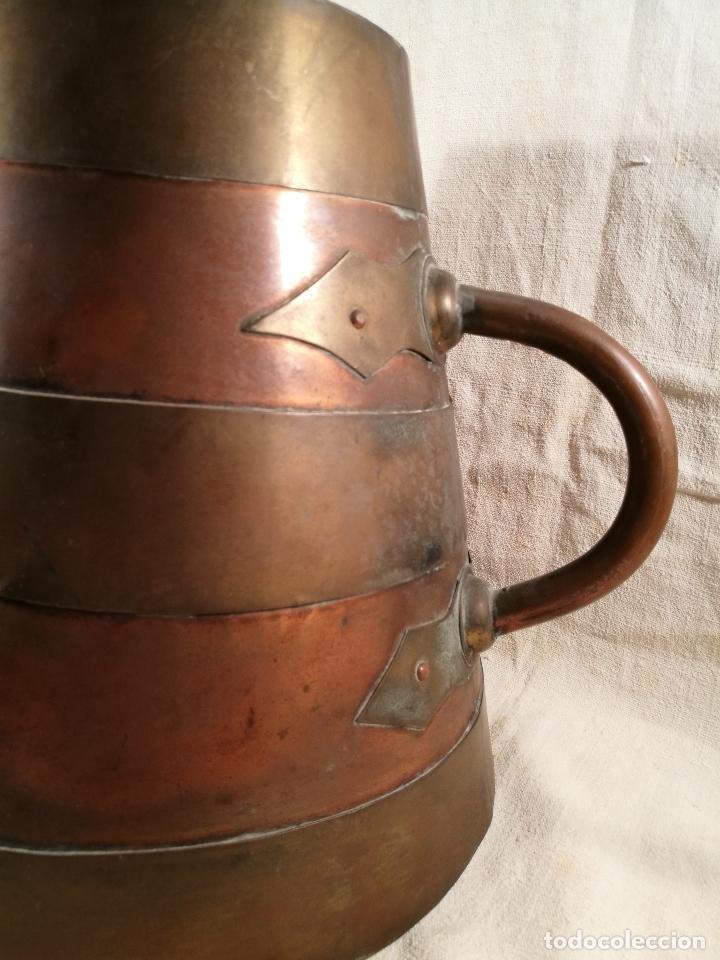 Antigüedades: GRAN MESURA-MEDIDA DE GRANO, SELLA BALDE AÑO 1900.EN COBRE Y LATON CELEMIN-CUARTERA-FANEGA - Foto 21 - 101469203