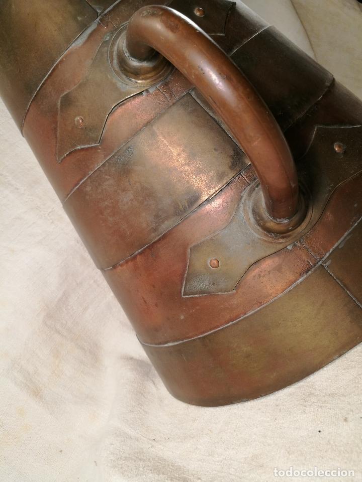 Antigüedades: GRAN MESURA-MEDIDA DE GRANO, SELLA BALDE AÑO 1900.EN COBRE Y LATON CELEMIN-CUARTERA-FANEGA - Foto 22 - 101469203