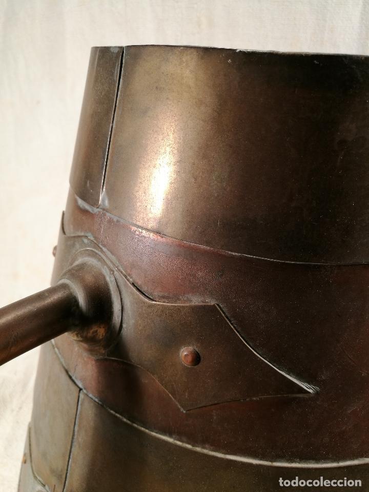 Antigüedades: GRAN MESURA-MEDIDA DE GRANO, SELLA BALDE AÑO 1900.EN COBRE Y LATON CELEMIN-CUARTERA-FANEGA - Foto 23 - 101469203