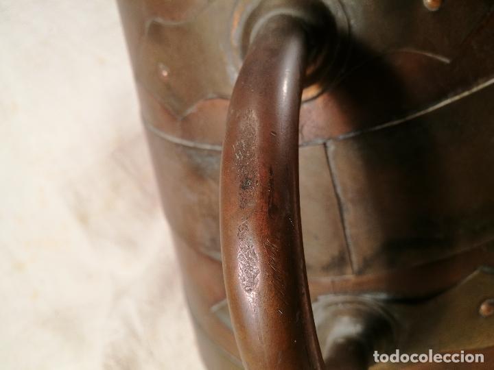 Antigüedades: GRAN MESURA-MEDIDA DE GRANO, SELLA BALDE AÑO 1900.EN COBRE Y LATON CELEMIN-CUARTERA-FANEGA - Foto 25 - 101469203