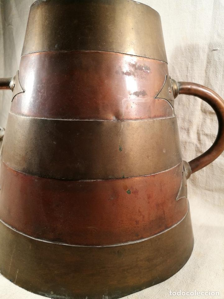Antigüedades: GRAN MESURA-MEDIDA DE GRANO, SELLA BALDE AÑO 1900.EN COBRE Y LATON CELEMIN-CUARTERA-FANEGA - Foto 29 - 101469203